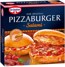 Pizzaburger Salami