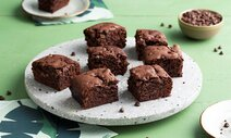 Vegan brownies choco met chocolatechips